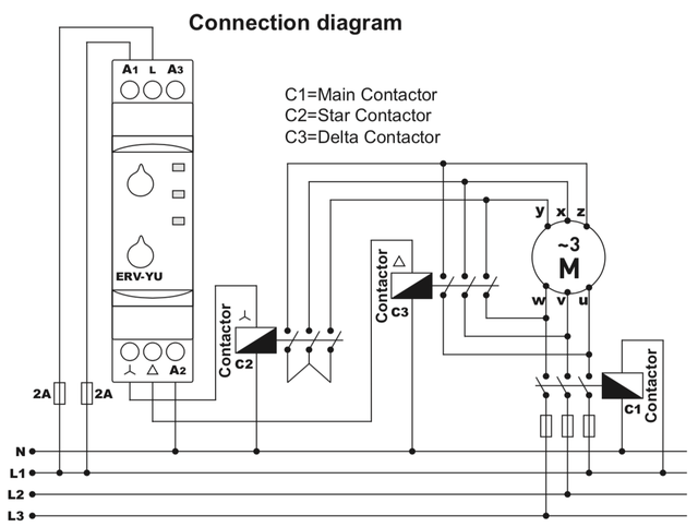 подключение пускового реле звезда треугольник ERV-YU ВЛ-163 РВП-3 ВЛ-32 CRM-2T PCG-417 CT-SDS.22S CT-YDE e.control.t18,ORT.12-230,CT-SDE,РМ Т 25,808202400000