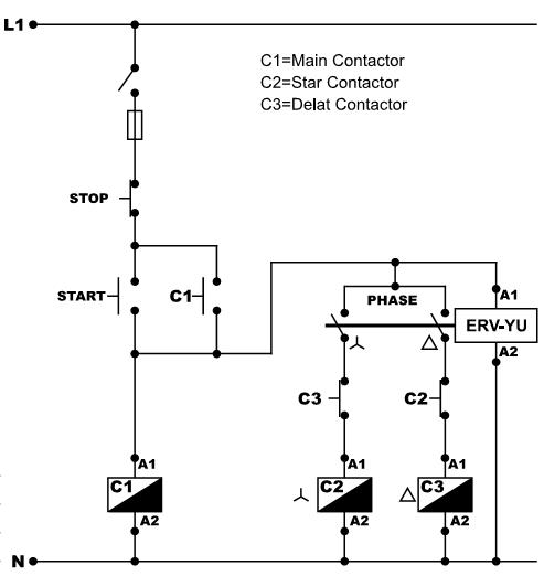 подключение реле времени звезда треугольник ERV-YU ВЛ-163 РВП-3 ВЛ-32 CRM-2T PCG-417 CT-SDS.22S CT-YDE e.control.t18,ORT.12-230,CT-SDE,РМ Т 25,808202400000