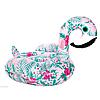 Надувной матрас Modarina  Фламинго с цветочным принтом 150 см NW3017
