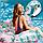 Надувной матрас Modarina  Фламинго с цветочным принтом 150 см NW3017, фото 2