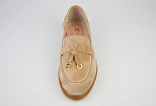 Туфли женские замшевые бежевые Marcel, фото 3
