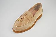 Туфли женские замшевые бежевые Marcel