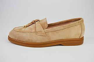Туфли женские замшевые бежевые Marcel, фото 2