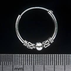 Серьга, кольцо с узором среднее (eas-056)