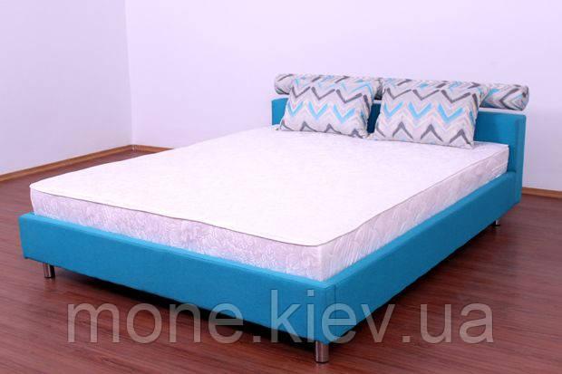 """Кровать """"Ален"""" двуспальная с мягким изголовьем + 2 подушки"""