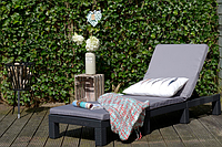 Шезлонг садовый Daytona Curver Keter + подушки Венгрия, фото 1