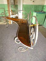 Полки, пуфики, столы, вешалки,зеркала из кованого металла