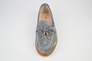 Туфли женские замшевые серые Marcel, фото 3