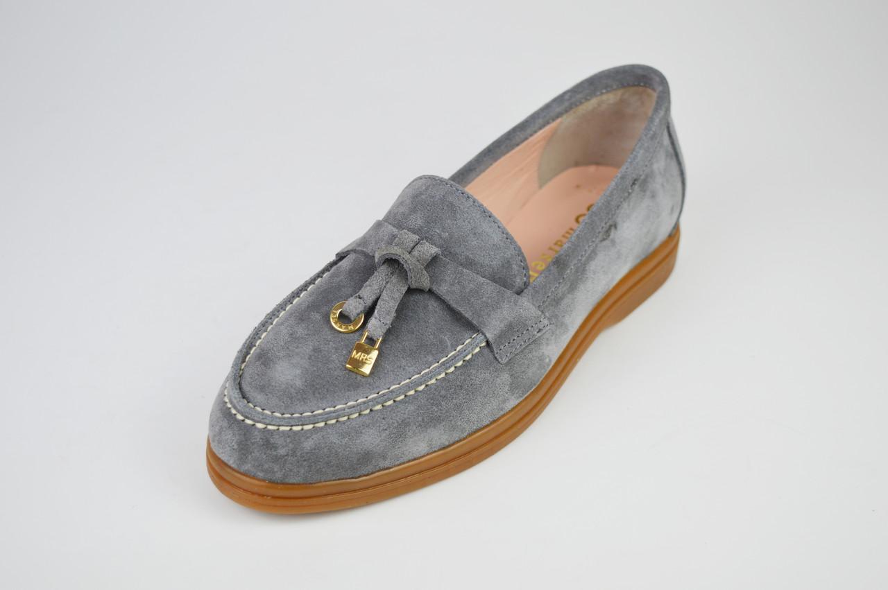 Туфли женские замшевые серые Marcel