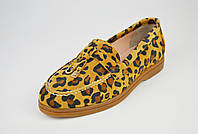 Туфли женские замшевые леопард Marcel