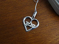 """""""Сердце """" подвес подвеска кулон серебро женская украшения серебряная"""