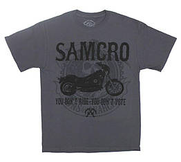 """Футболка Sons Of Anarchy """"You Don't Ride - You Don't Vote"""" (graphite t-shirt), Размер L"""