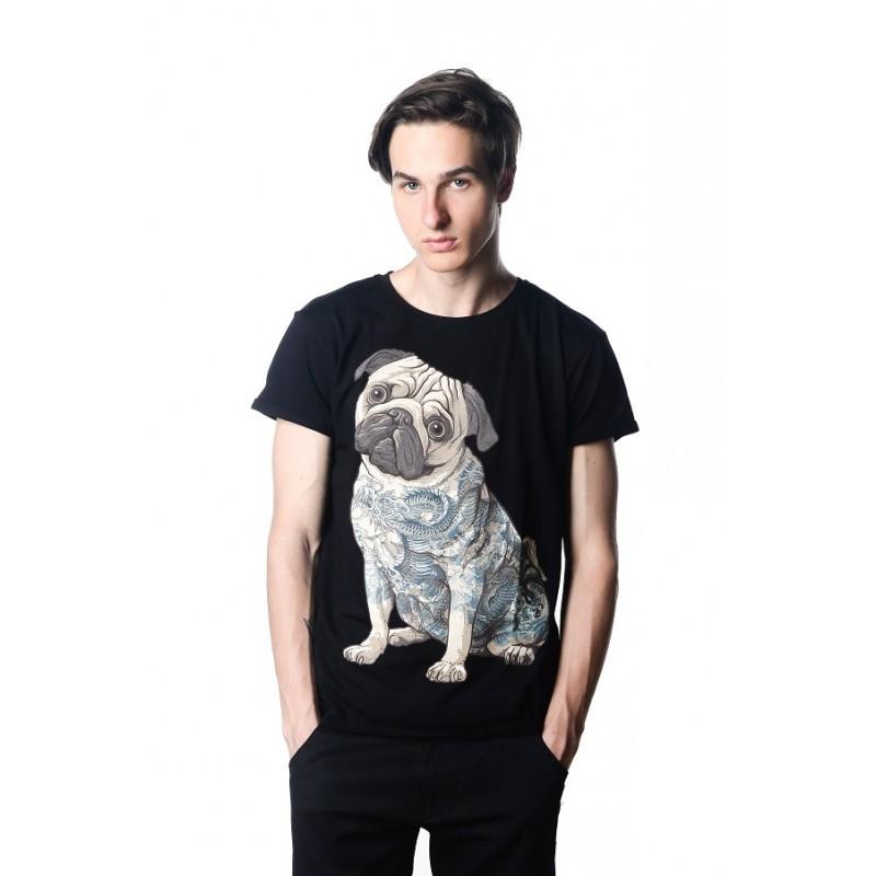 Футболка Urbanist Tattoo Pug Black Male, Размер S