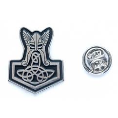 Металлический значок Молот Тора с Трикветром, фигурный пин