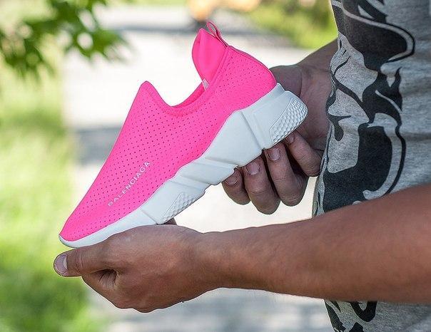 Кроссовки женские розовые BALENCIAGA Trainer 36-37