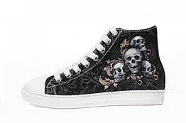 Кеды Rock Shoes Skulls (40-46), Размер (Rock Shoes) 40 (26,2 см)