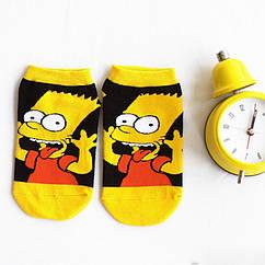 Короткие носки Bart Simpson (р.36-41)