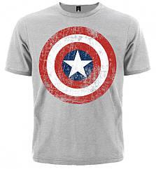 Футболка Captain America (меланж), Размер L