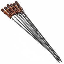 Шампур с деревянной ручкой 750х12х3 мм