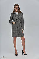 Женское демисезонное  пальто в клетку   ПВ-89  (р.42-52)
