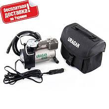 Автокомпрессор URAGAN 90130(УРАГАН),насос электрический для шин,компрессор автомобильный