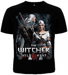 Футболка The Witcher 3: Wild Hunt, Geralt And Ciri (Ведьмак 3: Дикая охота, Геральт и Цири) Размер XL