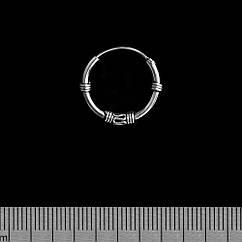 Серьга, кольцо с узором среднее (eas-068)
