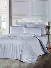 Комплект  постельного белья из  жаккарда евро размер ТМ ALTINBASAK benna gri