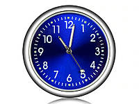 Автомобильные часы Elegant Кварцывые часы в авто Синий цыферблат, фото 1