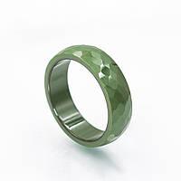Кольцо керамика с гранями