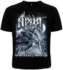 "Черная футболка Ария ""Проклятье морей"", Размер L"