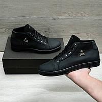 Крутые ботинки  в стиле Philipp Plein натуральная кожа, фото 1