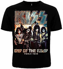 "Черная футболка Kiss ""End of the Road"" (world tour), Размер S"