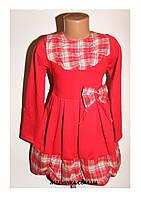 Платье на девочку красное трикотажное 122 р  арт 5535