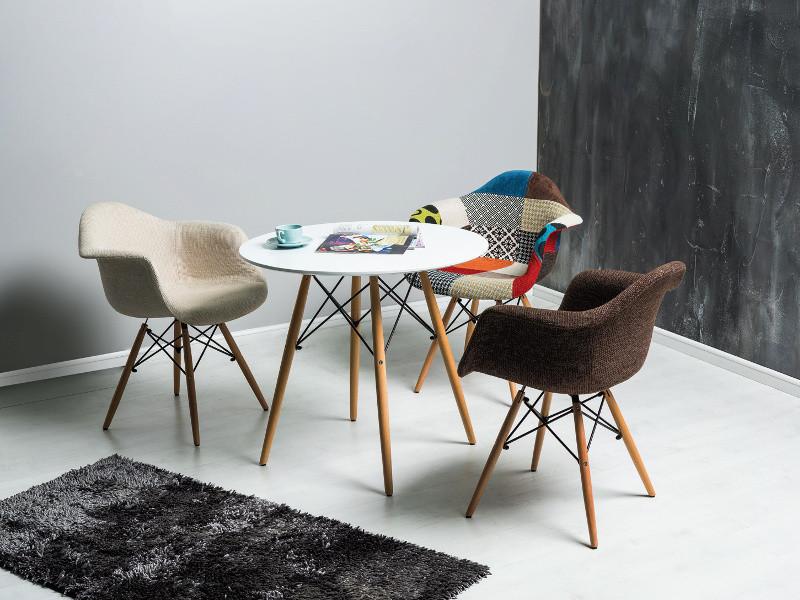 Стол обеденный деревянный Soho 80 Signal белый