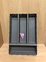Лоток для столовых приборов коричневый TP-8075