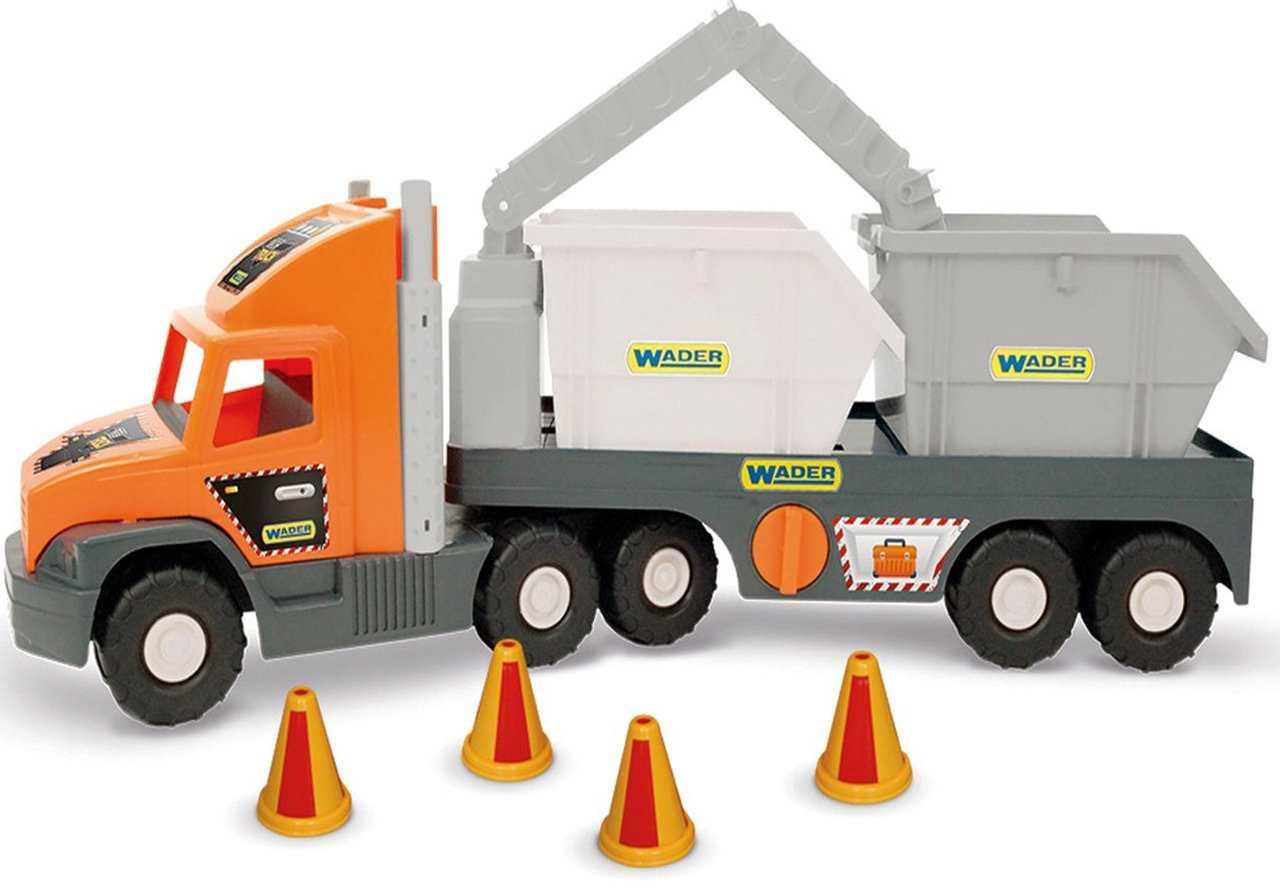Тягач з будівельними контейнерами Super Tech Truck Wader 36760