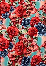 Креп-костюмка с розами