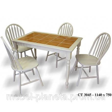 Обеденный стол со столешницей из керамический плитки  модель СТ 3045