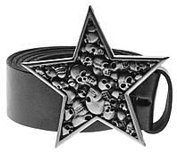 Пряжка Звезда с черепами, Комплект поставки товара Пряжка (без ремня)