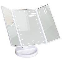 Зеркало косметическое с LED-подсветкой Superstar Magnifying Mirror для макияжа цвет БЕЛЫЙ, фото 1