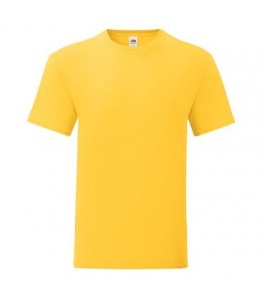 Мужская футболка однотонная желтая 430-34