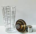 Шейкер для коктейлів GA Династія скляна 400 мл, 24036, фото 2