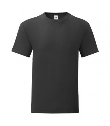 Мужская футболка однотонная черная 430-36
