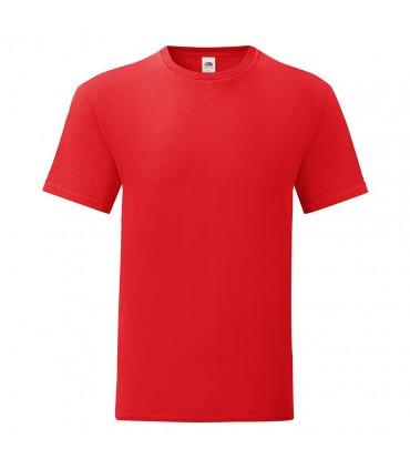Мужская футболка однотонная красная 430-40
