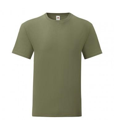 Мужская футболка однотонная оливковая 430-59