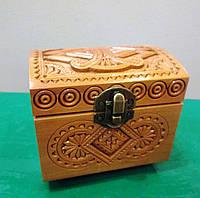 Отличный подарок для женщины - Изящная резная шкатулка из дерева, фото 1