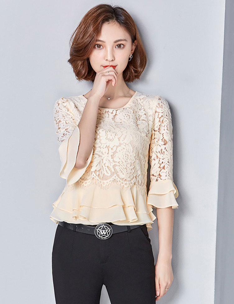 5c11c450079 Нарядная блузка с гипюром 44-46 (в расцветках) - Женская одежда оптом