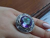 Оригинальное Серебряное кольцо Мистик печатка серебро украшение  камнями