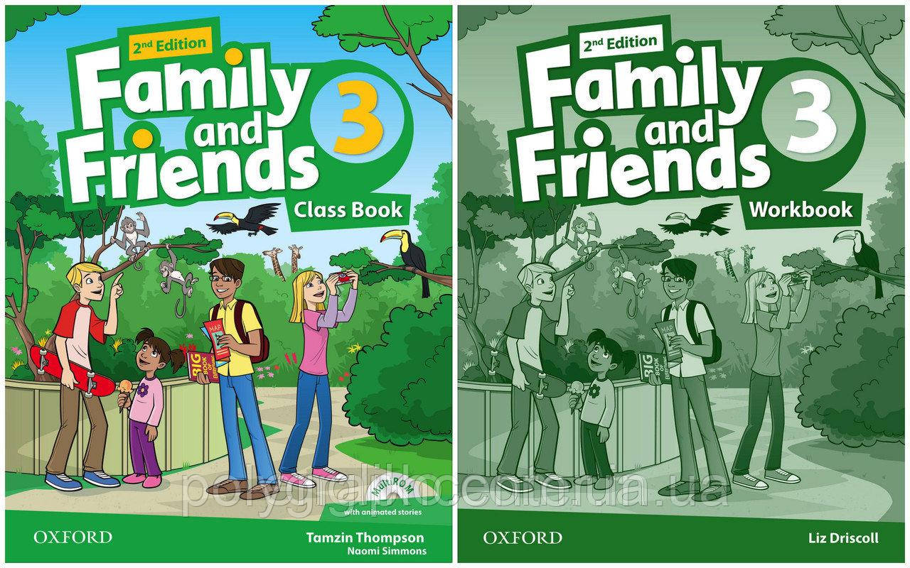 Family and friends 3 (2-edition) Комплект (Учебник + Тетрадь) Цветная Копия!